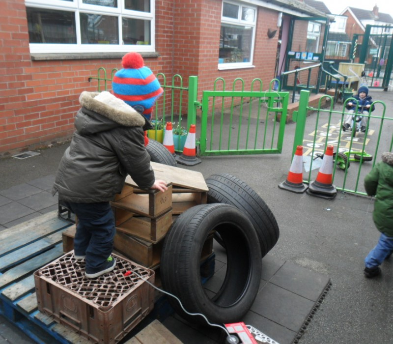 Children learning to affect their environment